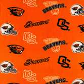 Oregon State Allover Collegiate Fleece Fabric
